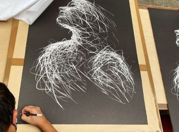 Hom Nguyen Lithographie Icare